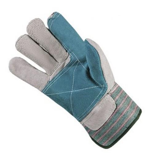 фото Перчатки Докер спилковые комбинированные с усиленным пальцем
