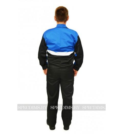 фото Костюм рабочий Профессионал синий с чёрным