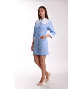 Халат женский медицинский М138 голубой