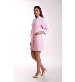 Халат женский медицинский М138 розовый