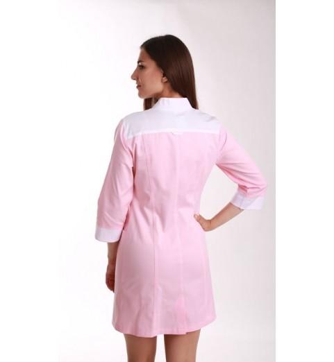 фото Халат женский медицинский М138 розовый