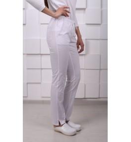 Брюки медицинские женские М158 белые