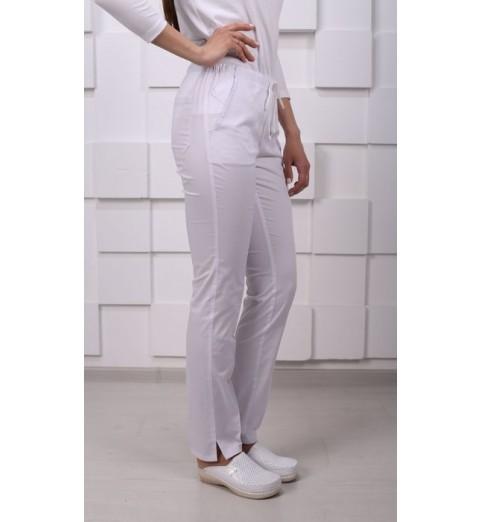 фото Брюки медицинские женские М158 белые
