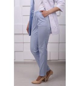 Брюки медицинские женские М158 голубые