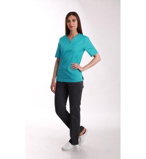 фото Блуза медицинская М99 бирюза
