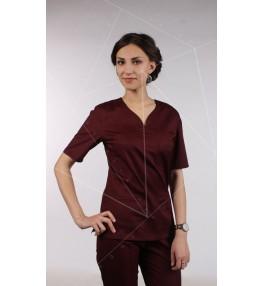 Блуза медицинская М99 бордовый