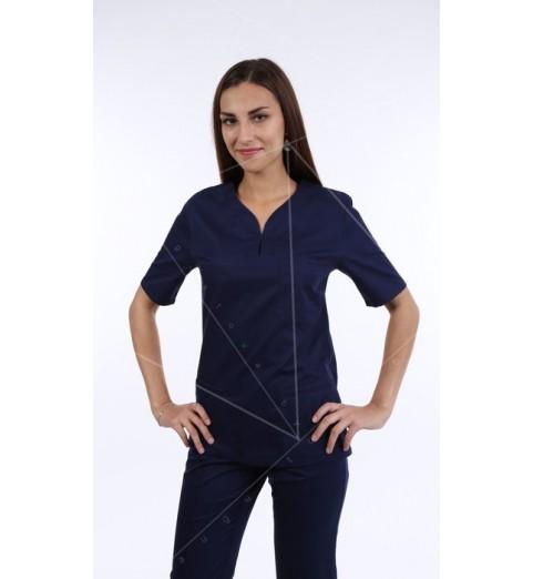 фото Блуза медицинская М99 темно-синий
